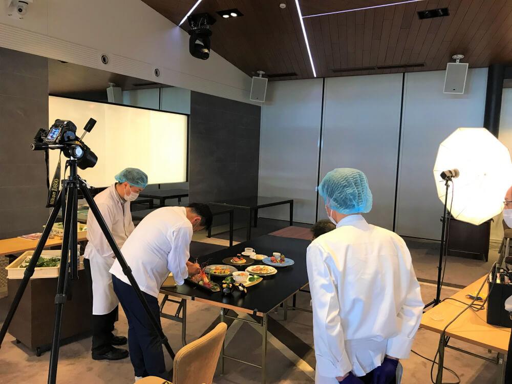 【乞うご期待!!高級食材を厳選】ザ・シャンカーラ2022年ご婚礼料理の撮影を行いました!!